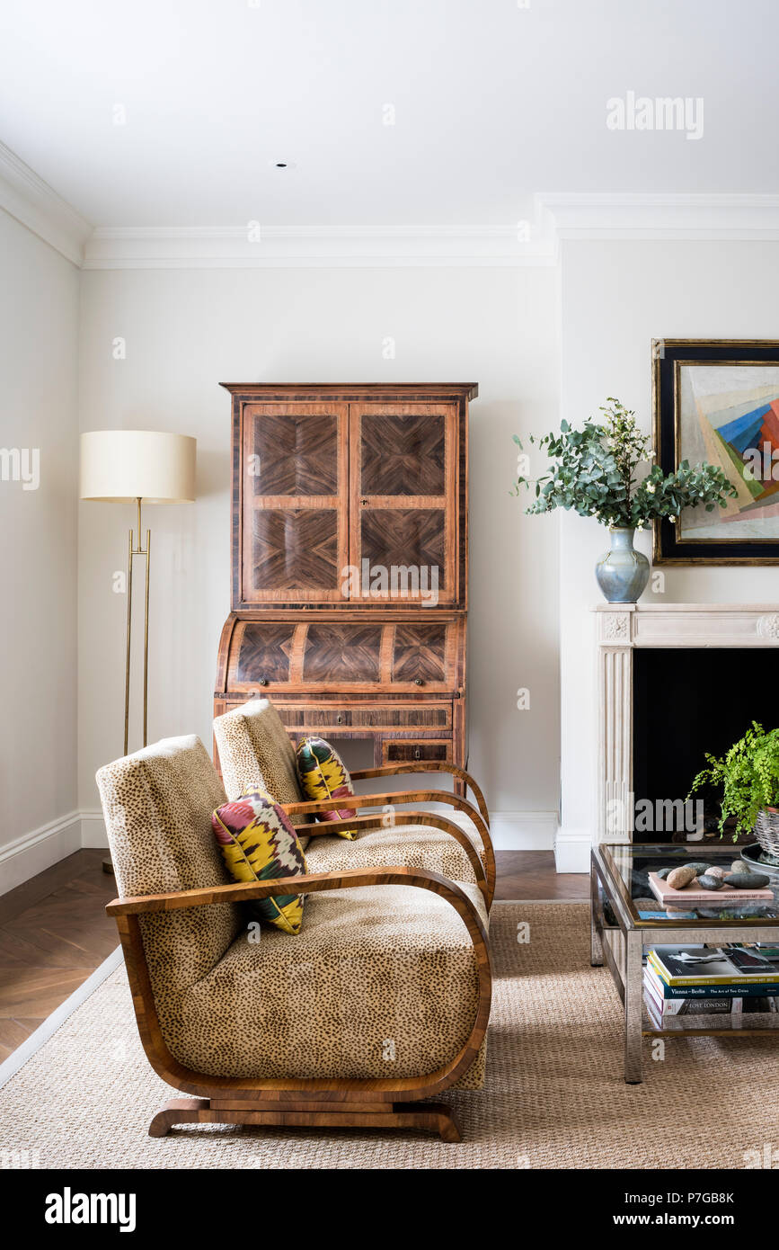 Modern armchairs in living room Stock Photo: 211187107 - Alamy