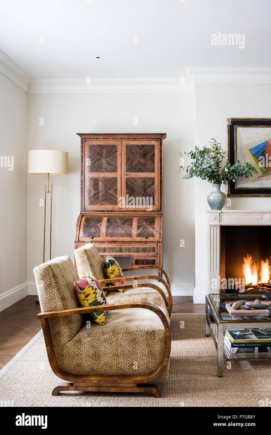 Modern armchairs in living room Stock Photo: 211187115 - Alamy