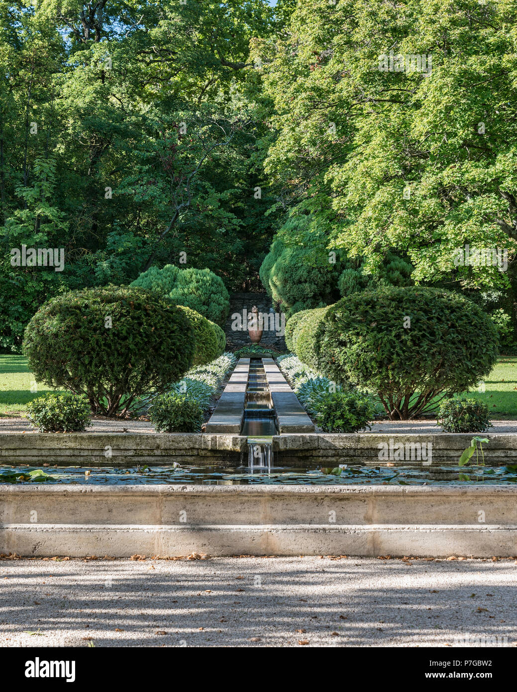 Garden grounds of 18th century chateaux in St Remy de Provence - Stock Image