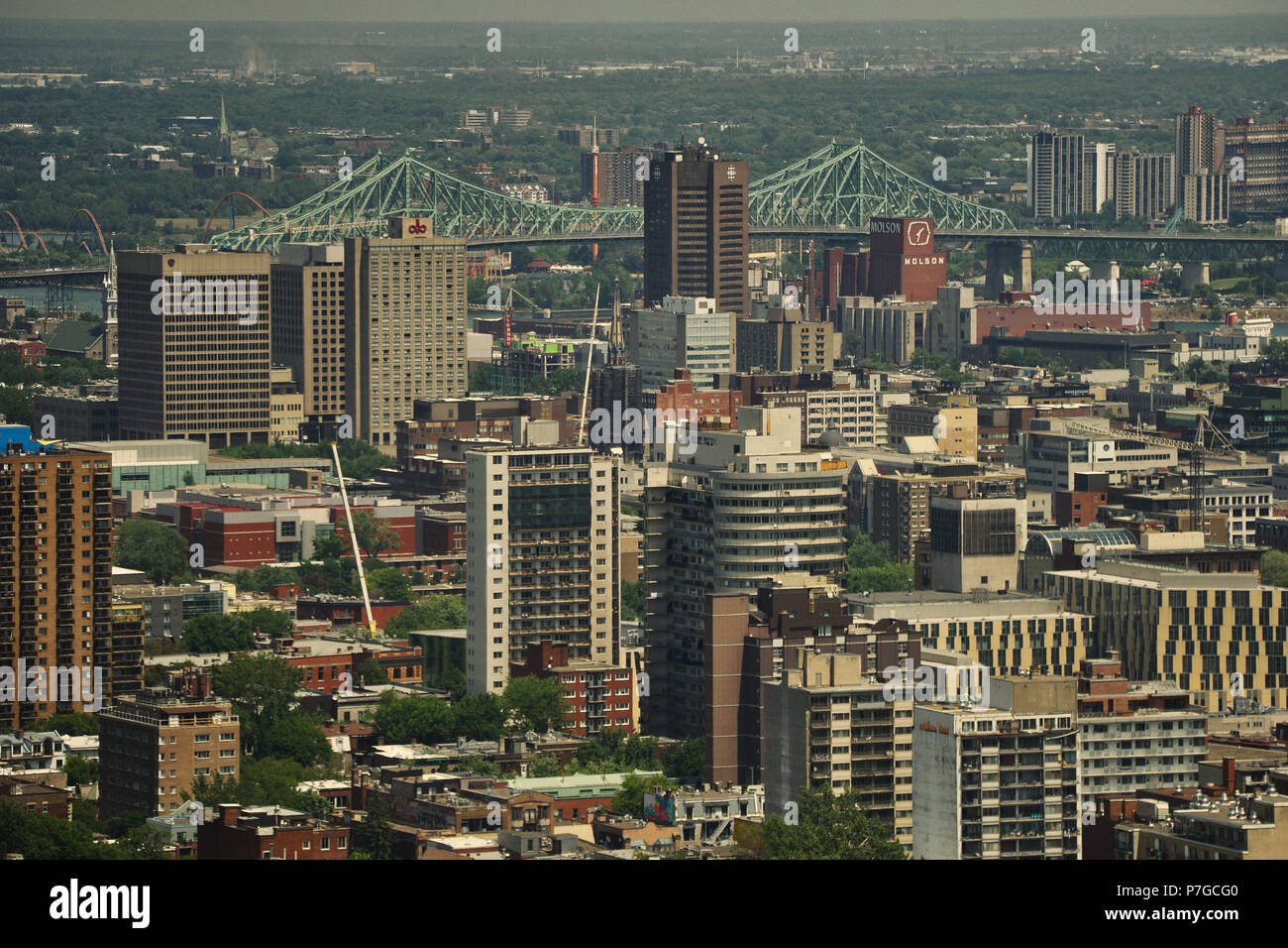 Montreal,Canada, July 5, 2018.View of Montreal during a heat wave in the city.Credit Mario Beauregard/Alamy Live News - Stock Image