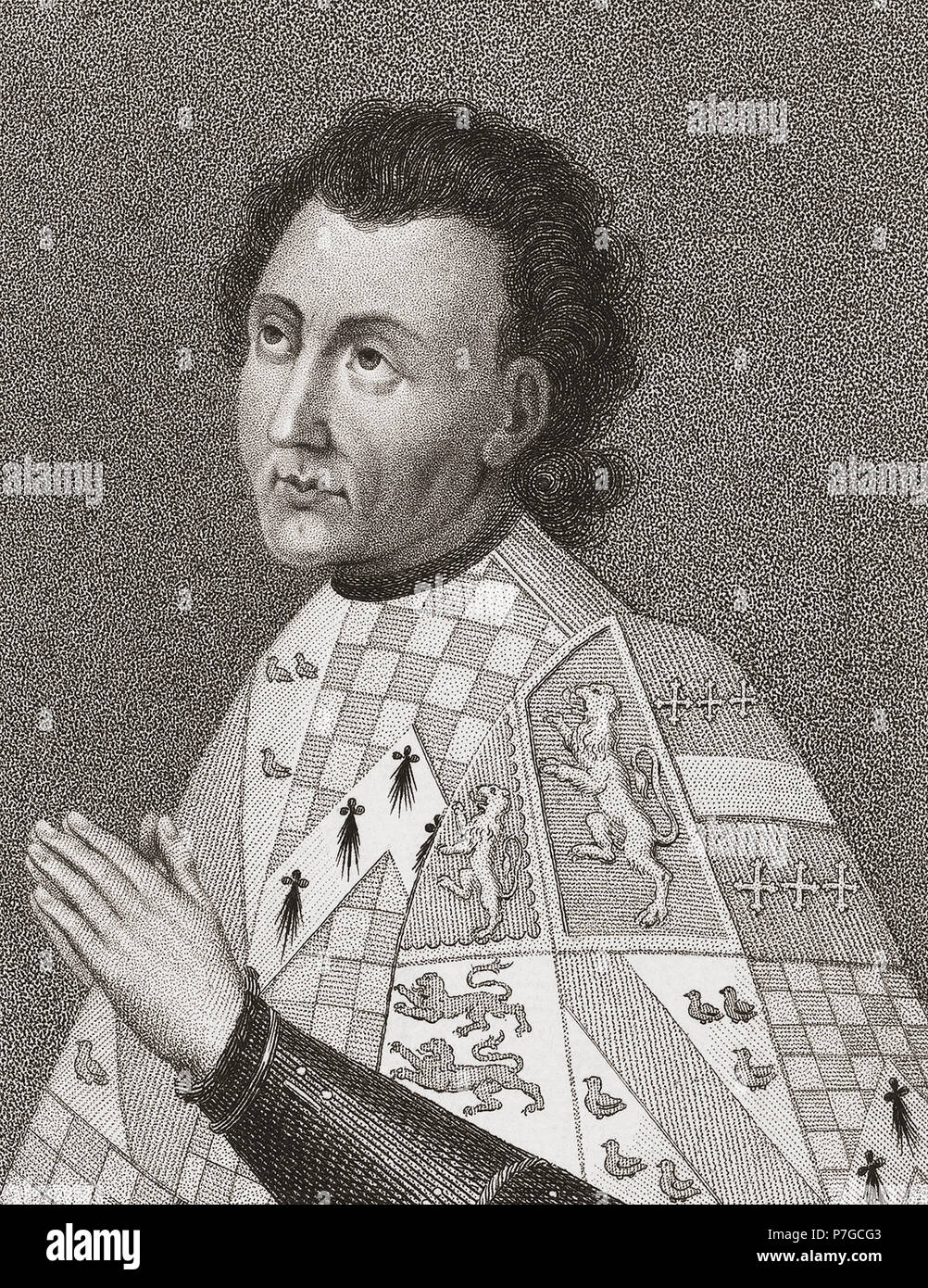John Talbot, 1st Earl of Shrewsbury and 1st Earl of Waterford KG, 1384/1387 – 1453.  English military commander during Hundred Years War, Lord Lieutenant of Ireland, Constable of France. - Stock Image
