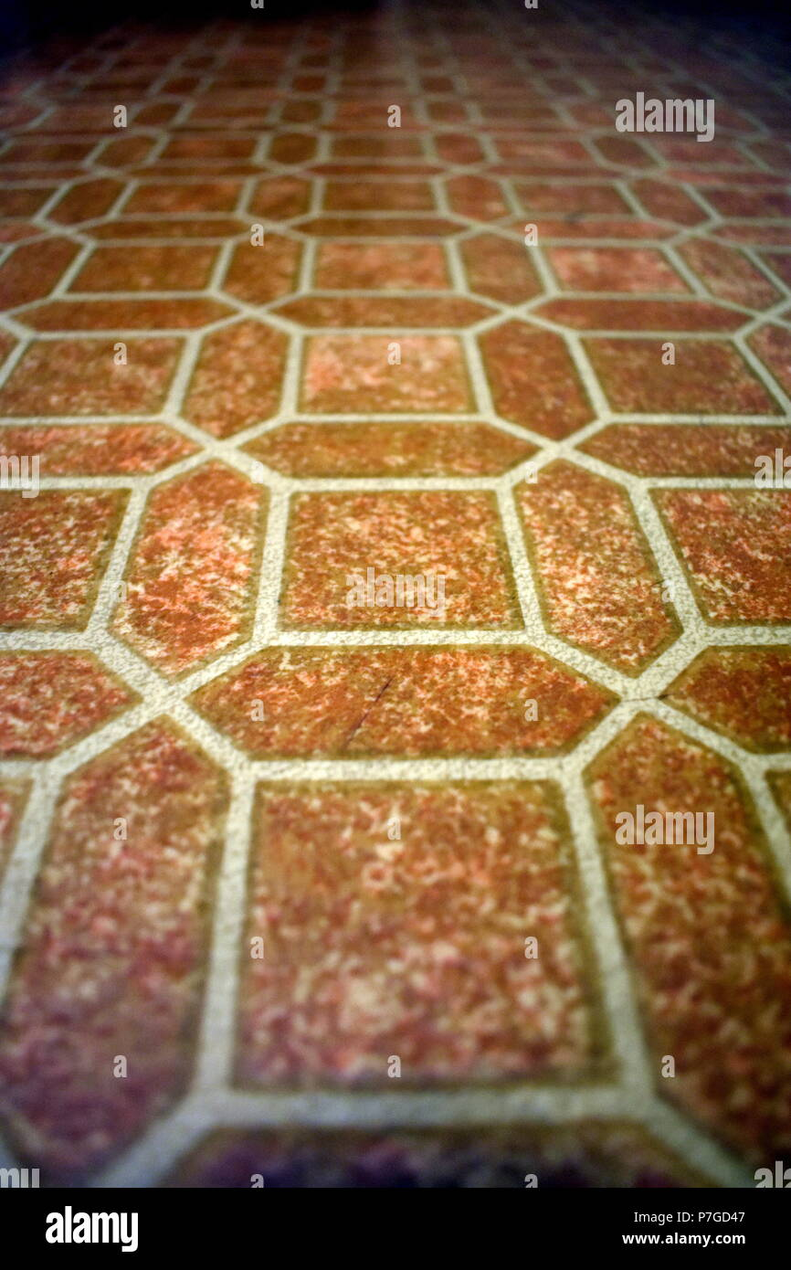 Old-Fashioned Kitchen Floor Pattern - Stock Image