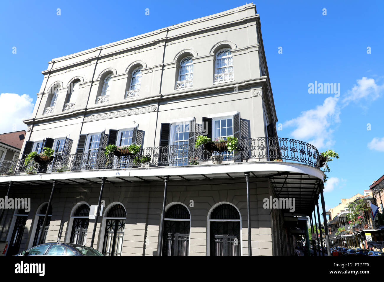 Horror House Delphine LaLaurie Mansion French Quarter New Orleans Louisiana, USA - Stock Image