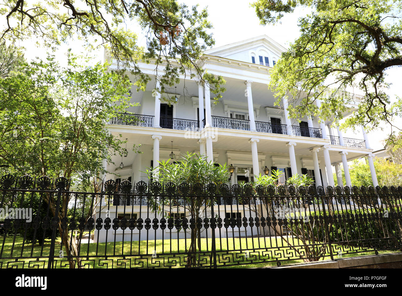 Historical Buckner Mansion New Orleans, Louisiana USA - Stock Image