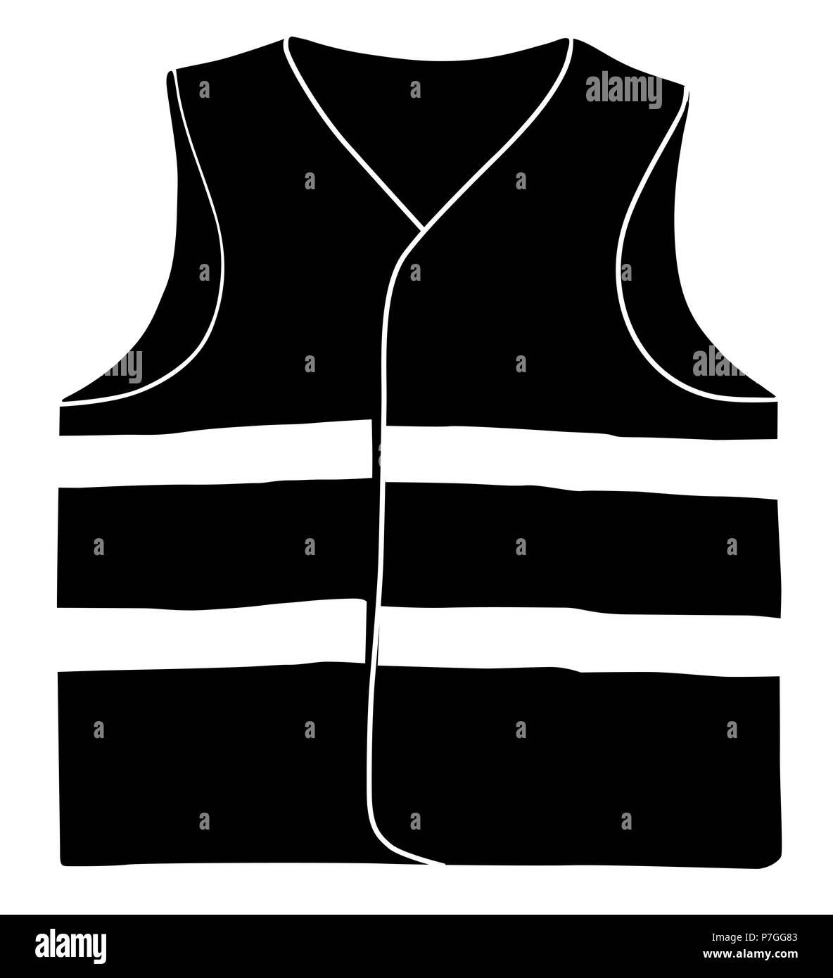 Safety vest isolate on white background - Stock Image
