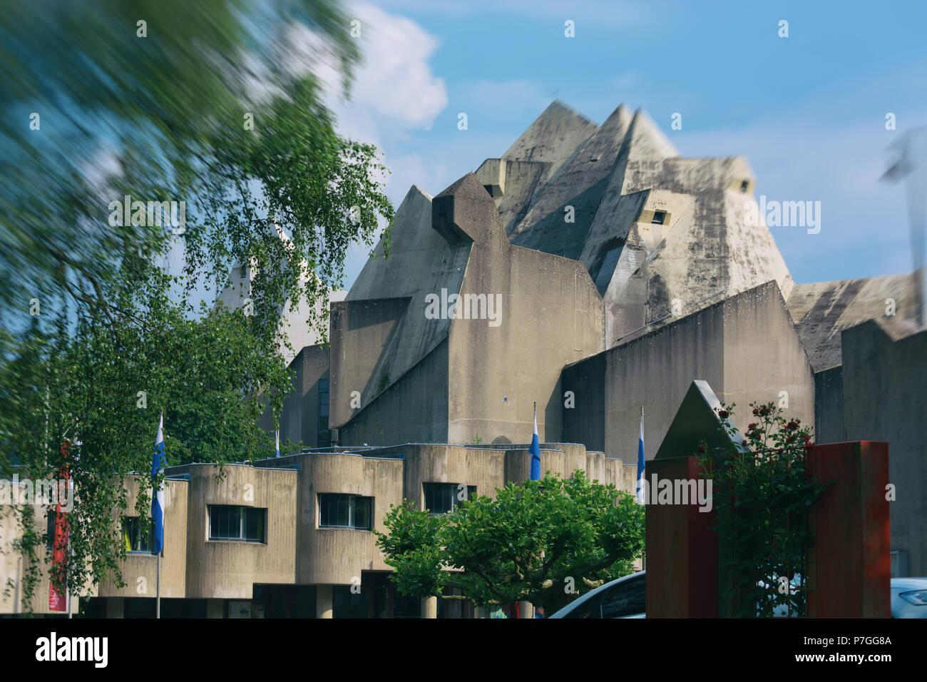 Neviges pilgrimage church on the Hardenberg in Velbert Stock Photo