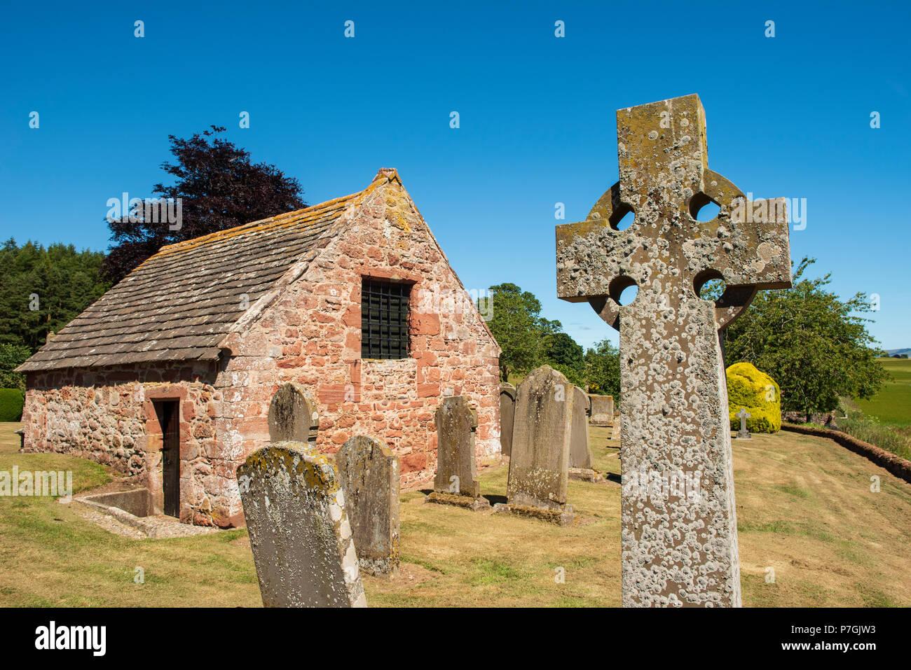 Lindsay Burial Vault, Edzell, Angus, Scotland. - Stock Image