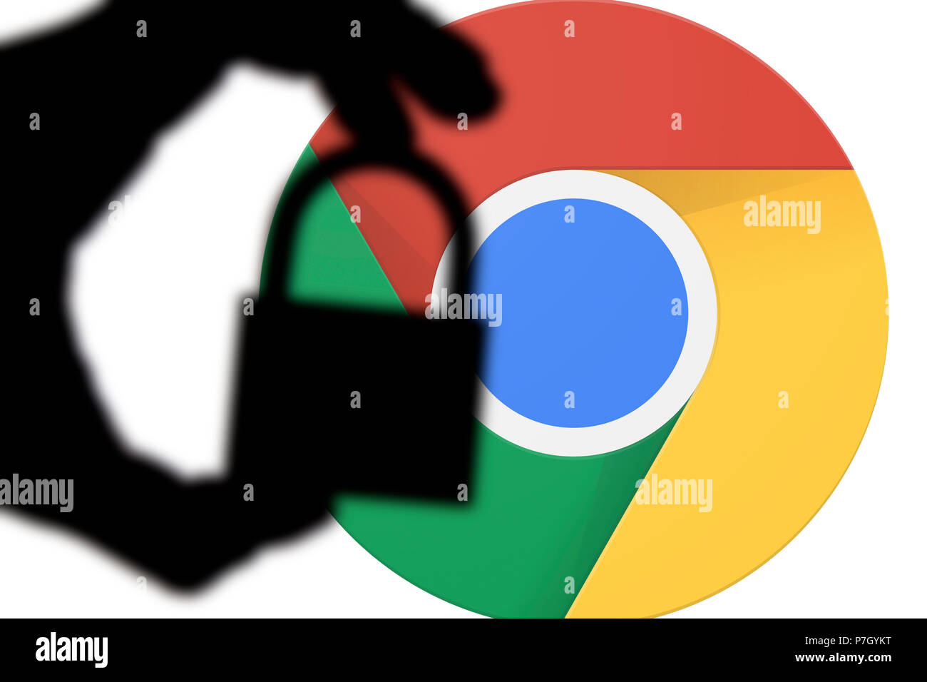 LONDON, UK - JULY 6th 2018: Google Chrome security issues