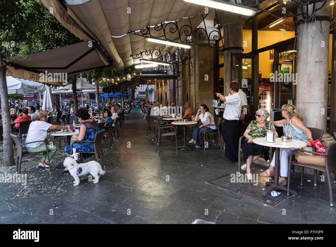 Terraza Del Bar Cristal Plaza De Espanya Palma Mallorca