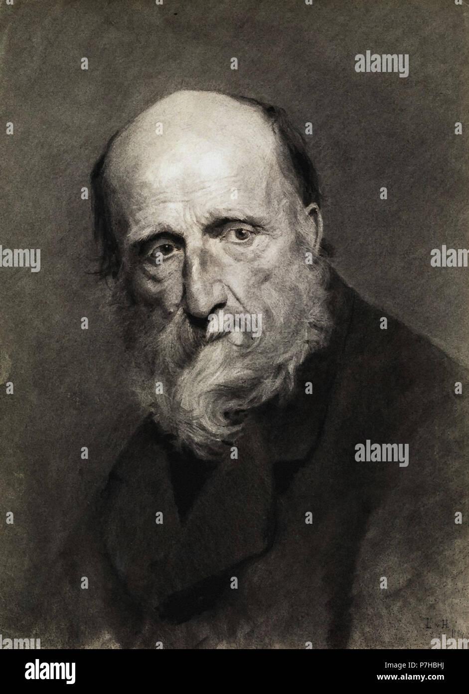 Hofmann  Ludwig Von - Alter Mann Nach Links Schauend Stock Photo