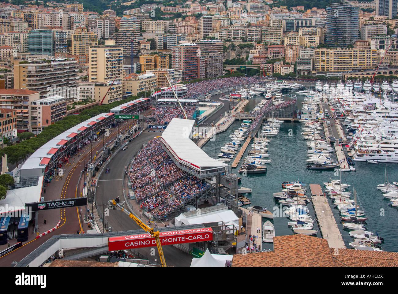 Monaco Grand Prix Piscene Curve - Stock Image