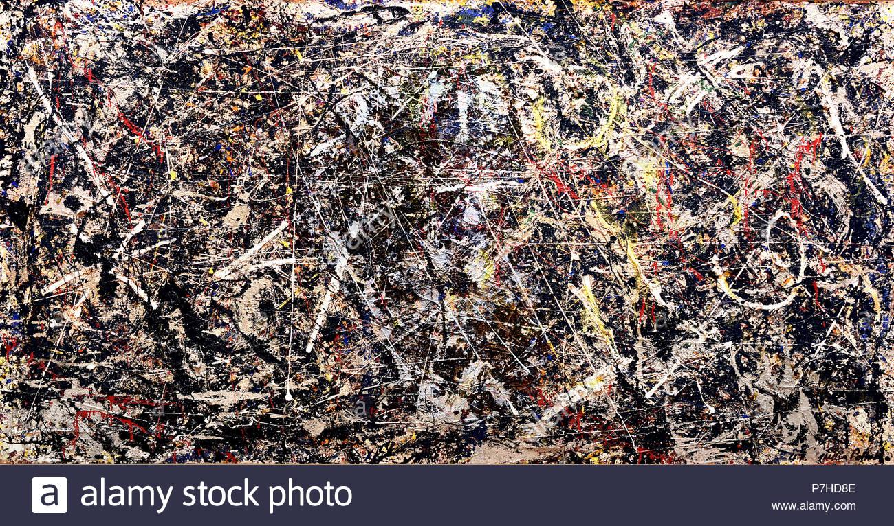 Alchemy 1947  Jackson Pollock (1912 - 1956) American United States of America USA - Stock Image