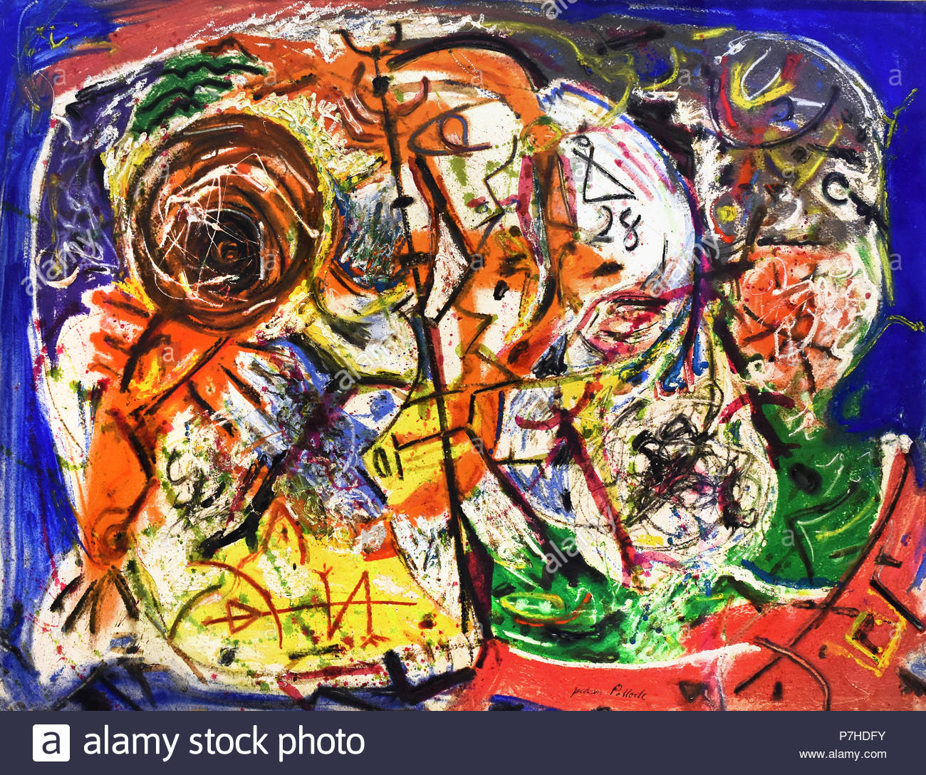 Without title 1946 Jackson Pollock American United States of America - Stock Image