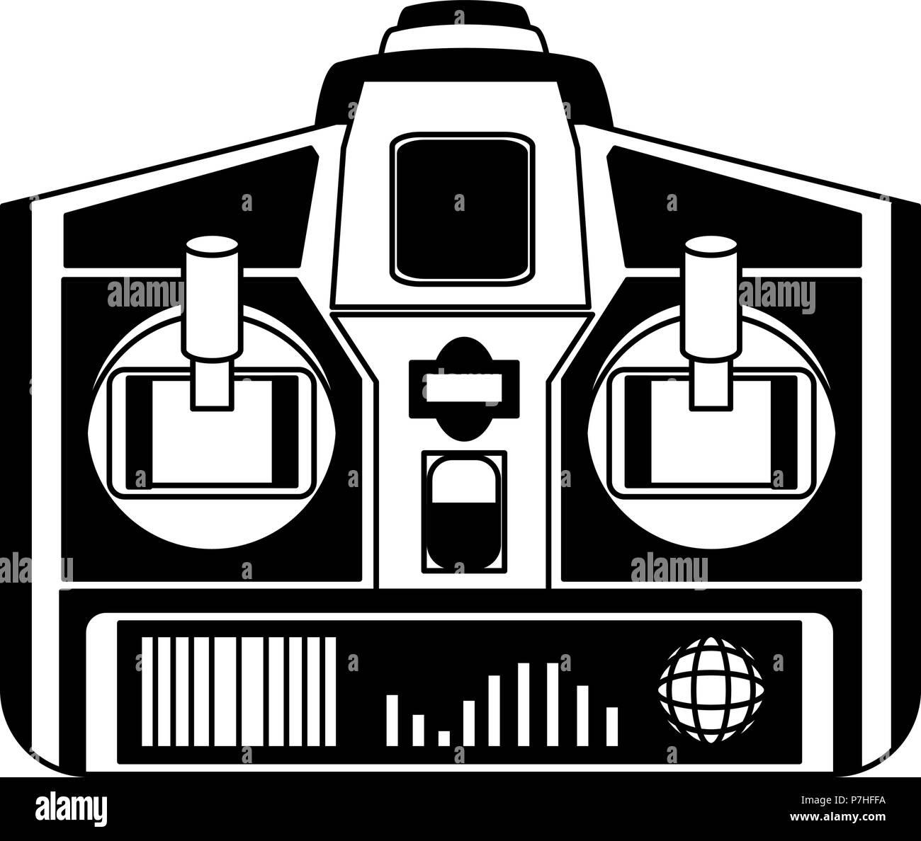 Drone remote control vector illustration graphic design - Stock Image