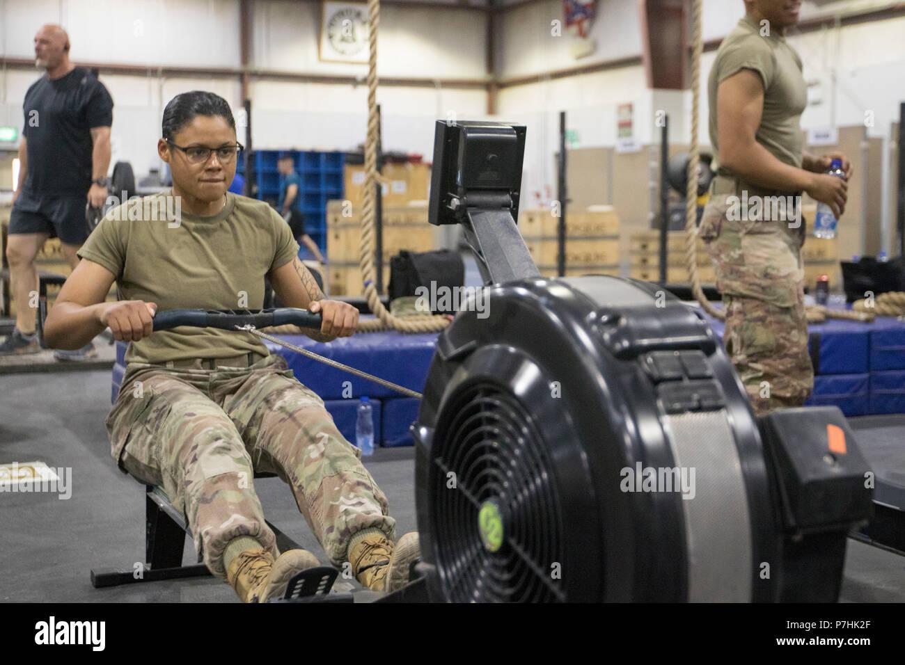 U S  Army Spc  Janae Sparks, a military police patrol supervisor