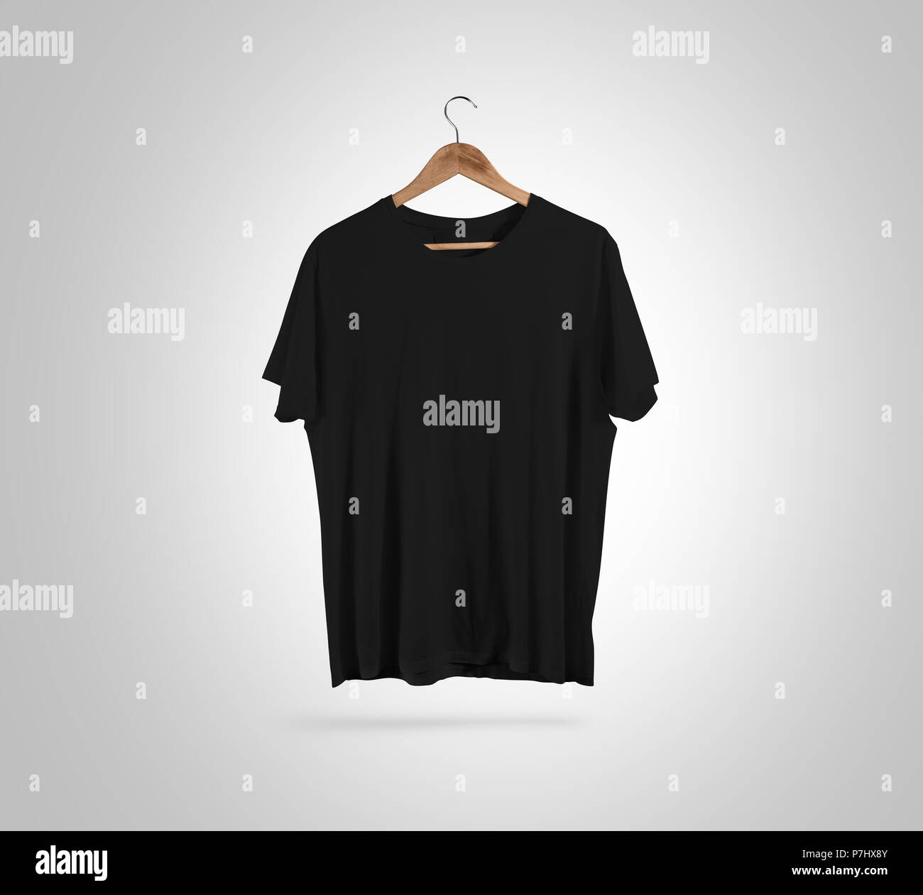 Blank black t shirt front side view on hanger design mockup blank black t shirt front side view on hanger design mockup clipping path gray clear plain cotton tshirt mock up template apparel store logo brand maxwellsz