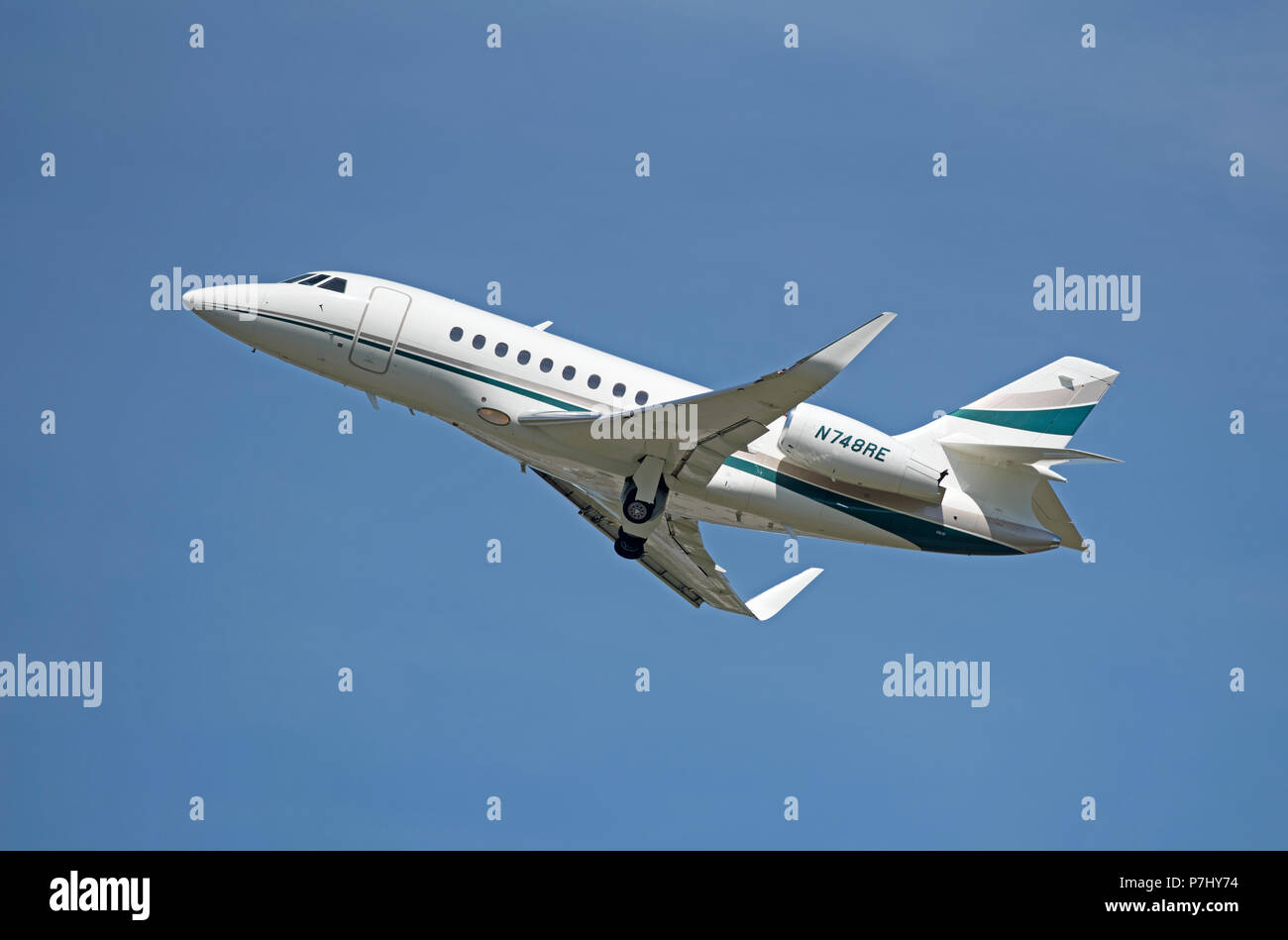 A loganair Saab 340 arriving at Inverness airfield having left Stornoway 40 minutes before. - Stock Image