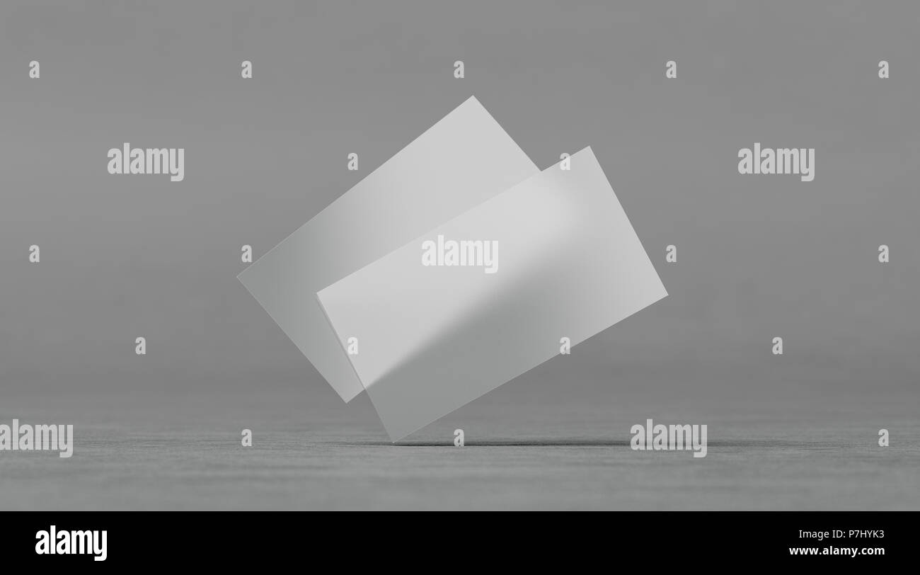 Blank Plastic Transparent Business Cards Mockups 3d Rendering Clear Pvc Namecards Mock Up On Textured Surface Empty Acrylic Horizontal Customer Pas