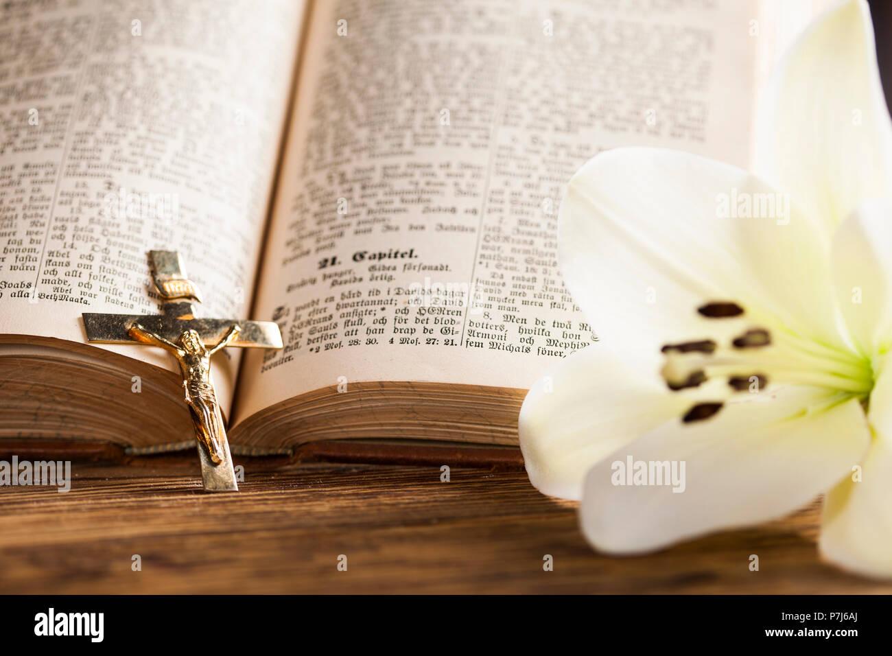 Ant Martina Franca sacrament of communion, eucharist symbol stock photo
