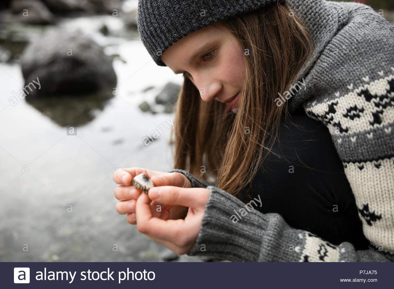 Teen teen girl explores girl seems, will