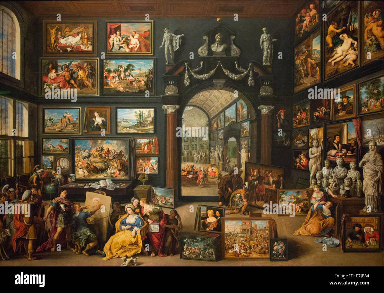 Willen van Haecht - Apelles Painting Campaspe - 1630 - Stock Image