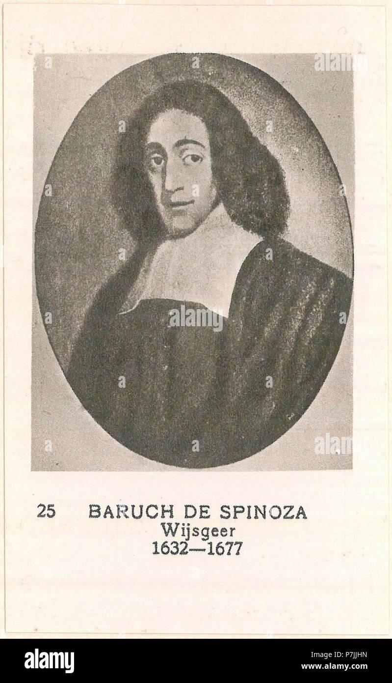 25 Baruch De Spinoza Wijsgeer 1632 1677 Stock Photo