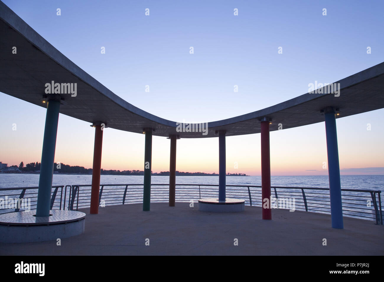 Pier in the Baltic sea spa Kellenhusen on the Baltic Sea, Schleswig - Holstein North Germany, Germany, Stock Photo