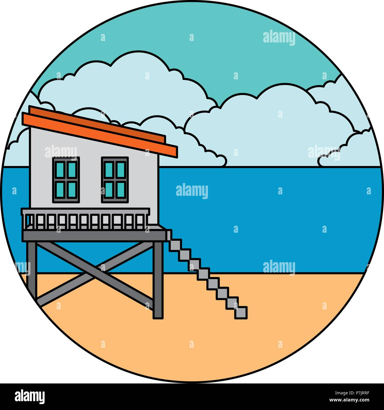 3f3c233ba248 Lifeguard House Stock Vector Images - Alamy