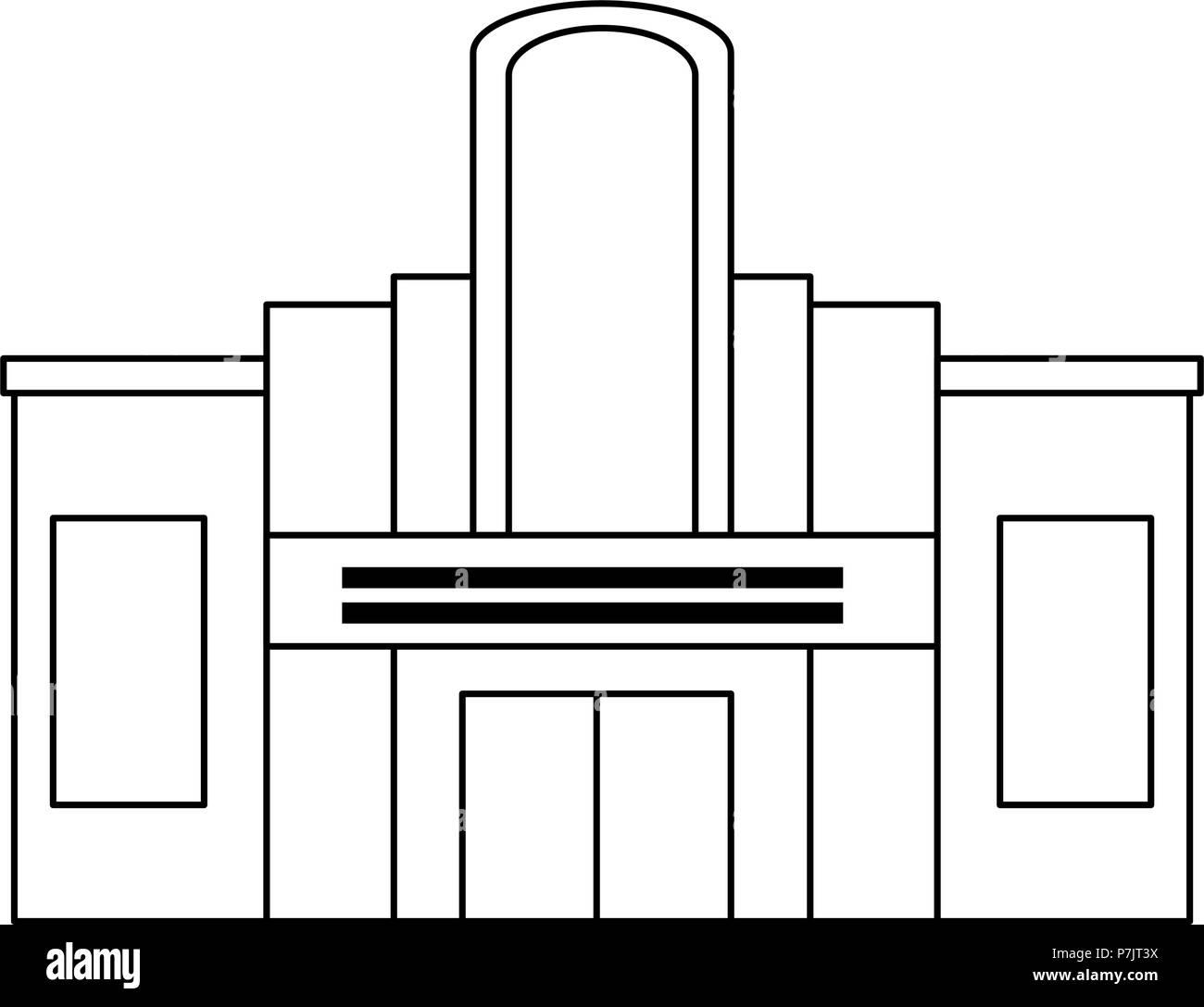 casino building facade icon - Stock Image