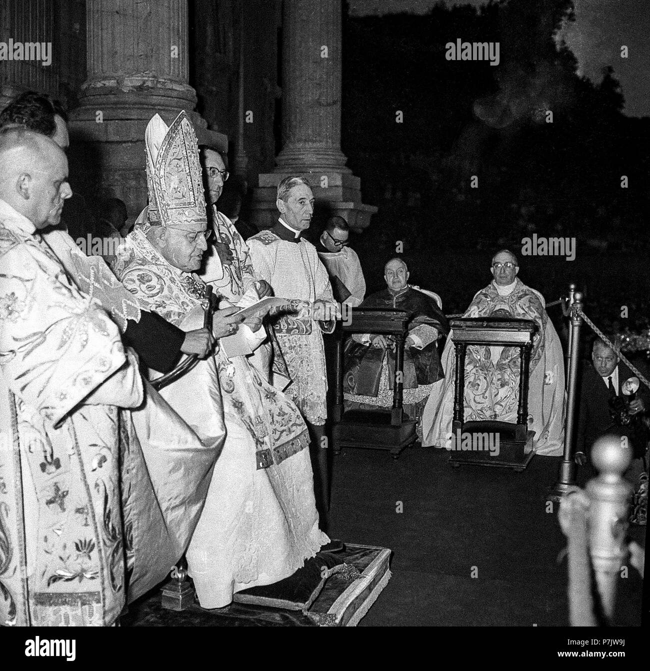 italy Rome Pope John XXIII - Procession of Corpus Domini - June 16, 1960 - Stock Image