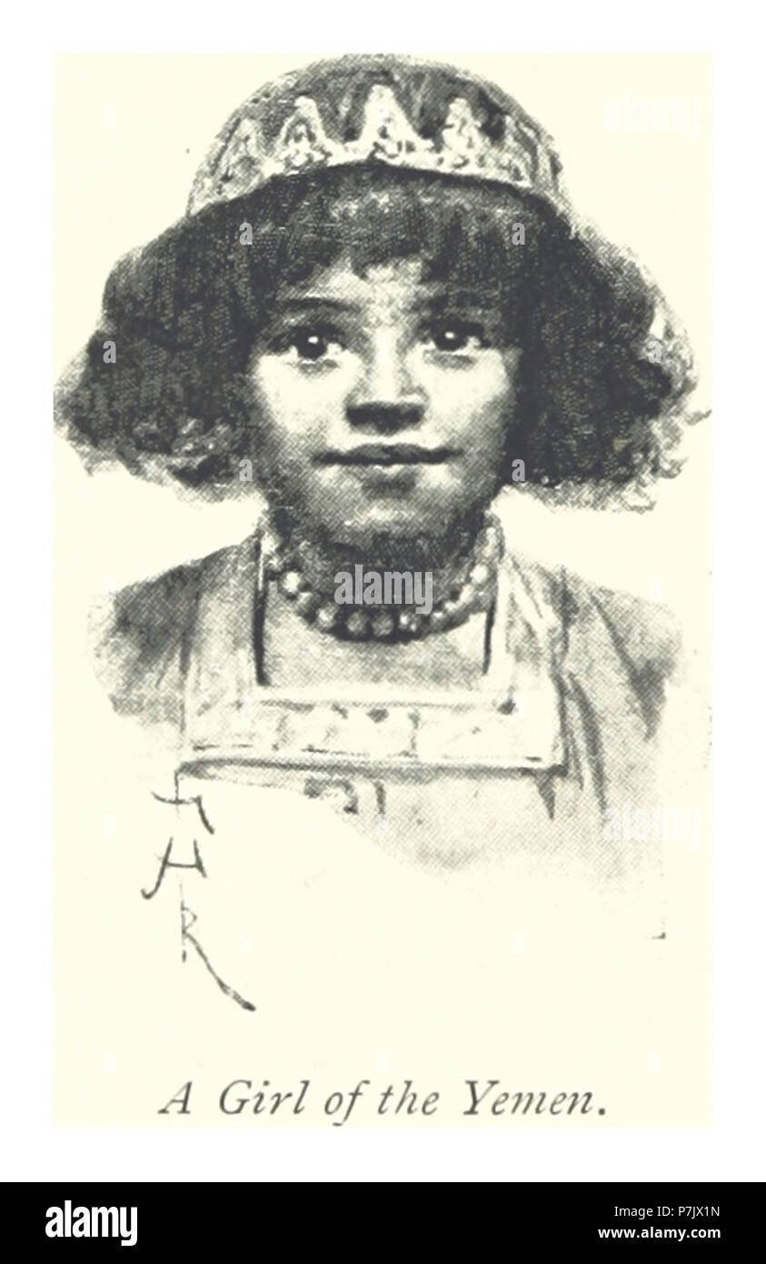 244 A girl of the Yemen. - Stock Image