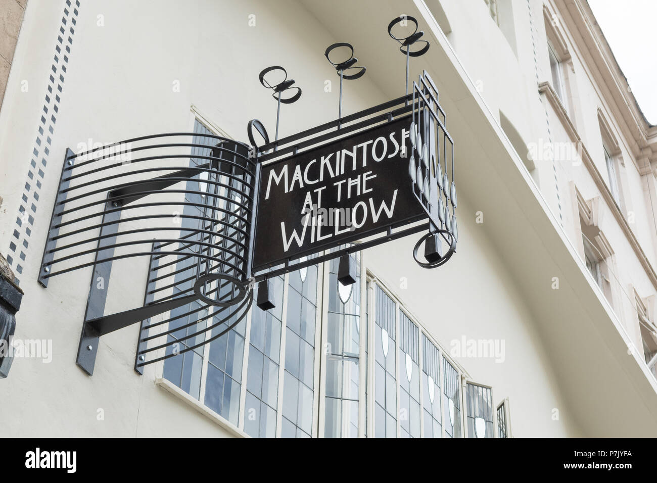 Mackintosh at the Willow, tea rooms 217 Sauchiehall Street, Glasgow, Scotland, UK - Stock Image