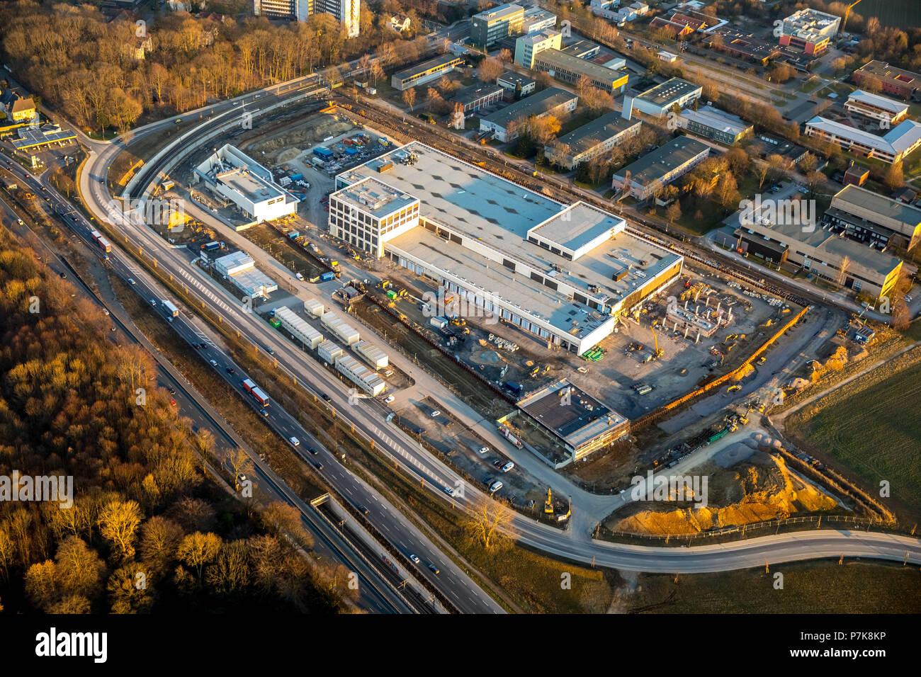 On the old barracks area in Dortmund, the Deutsche Bundesbank builing the largest money storage in Germany Fort Knox in Dortmund, Ruhrgebiet, North Rhine-Westphalia, Germany, - Stock Image