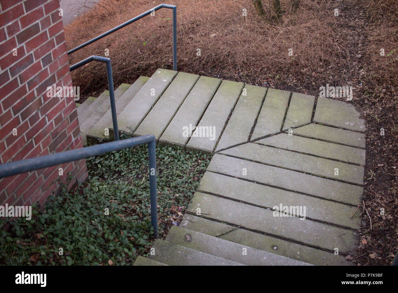 Stairs downwards. - Stock Image
