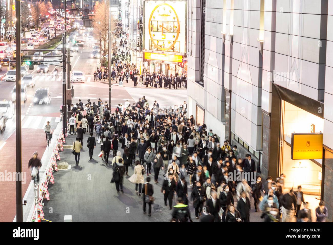 Rush hour in Tokyo - Stock Image