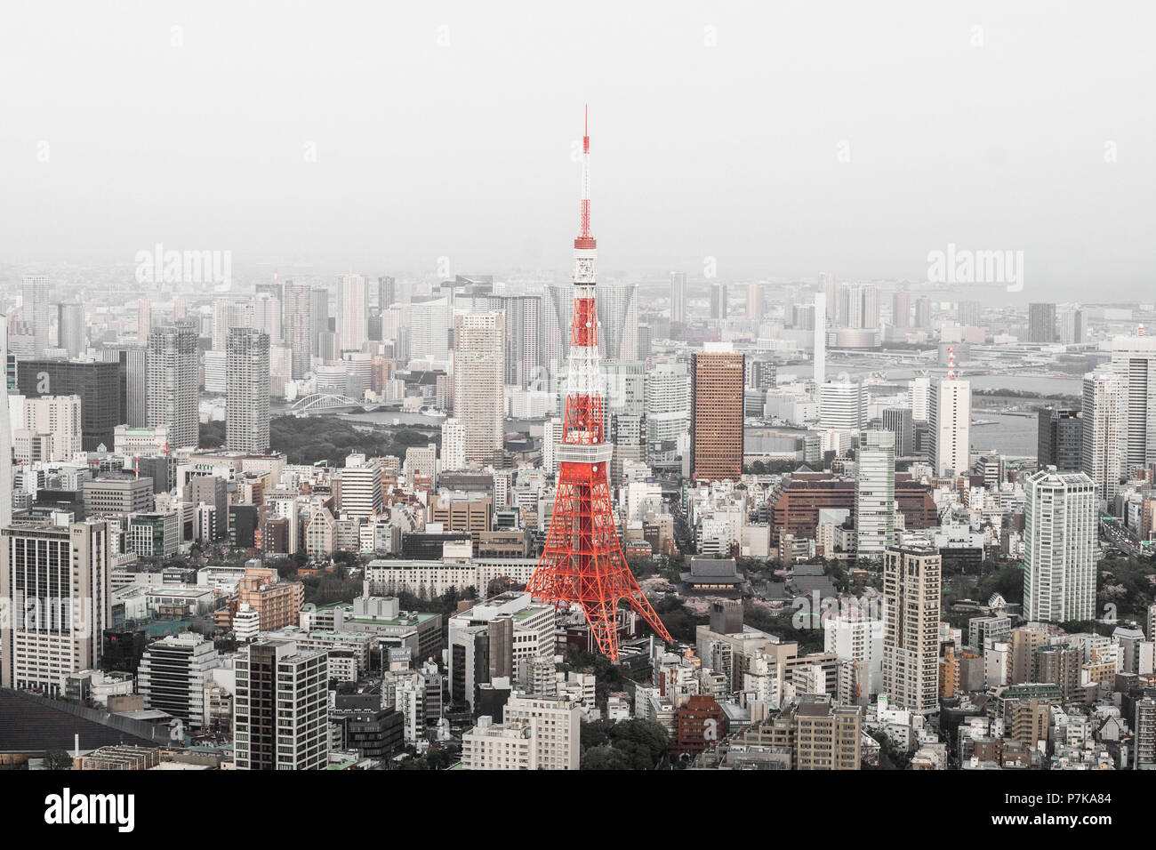 The Tokyo Tower by day - Stock Image