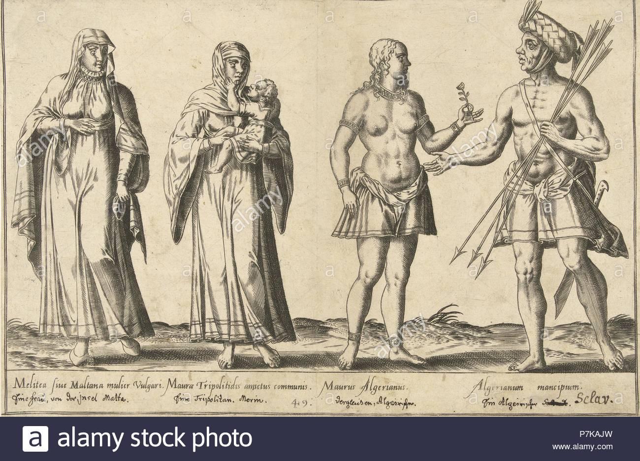 Mediterranean People around 1580, Abraham de Bruyn, Joos de Bosscher, 1581.