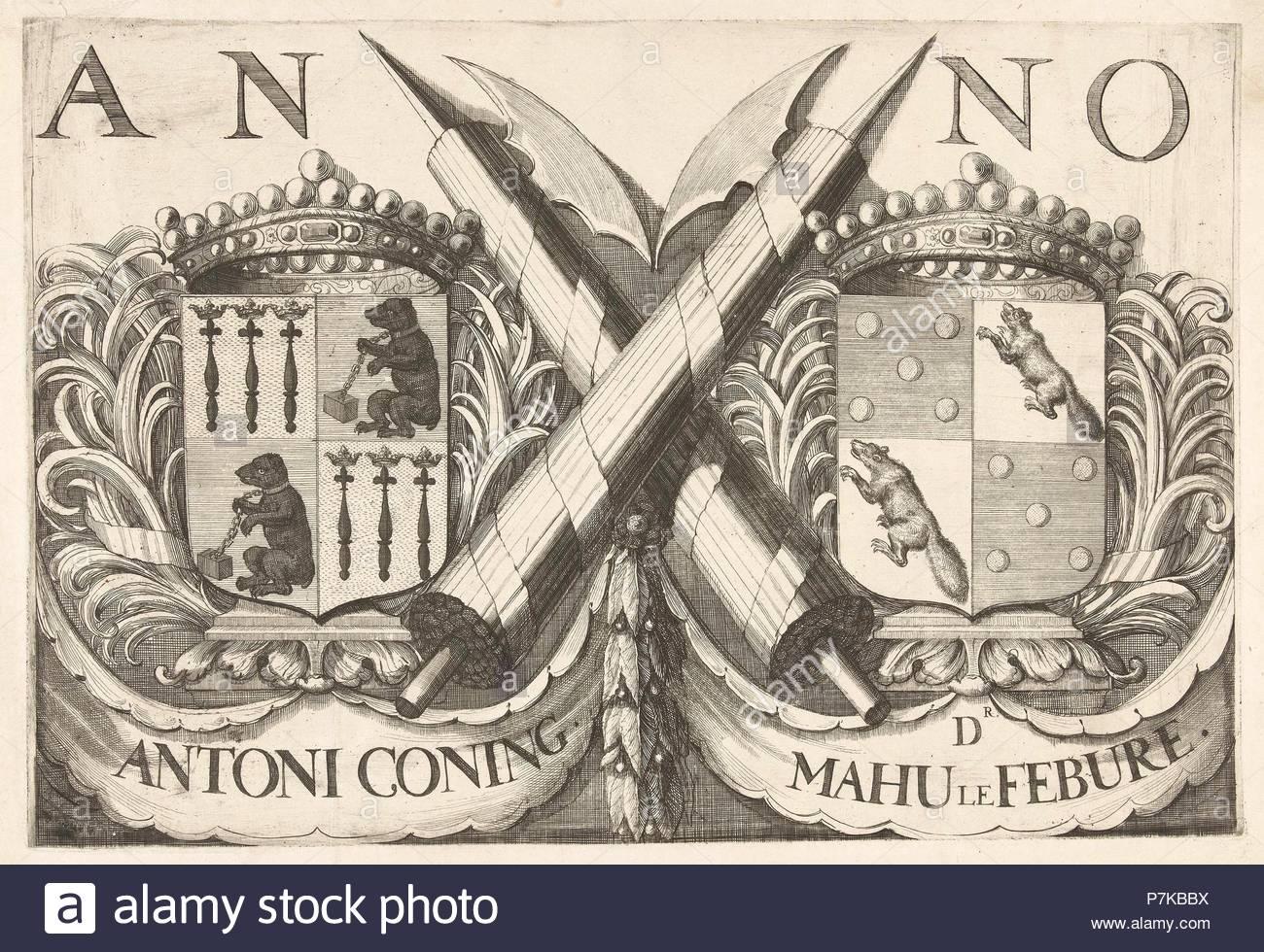 Coat Of Arms Of Antoni Coning Mayor Of Haarlem And Mahu Le Febure