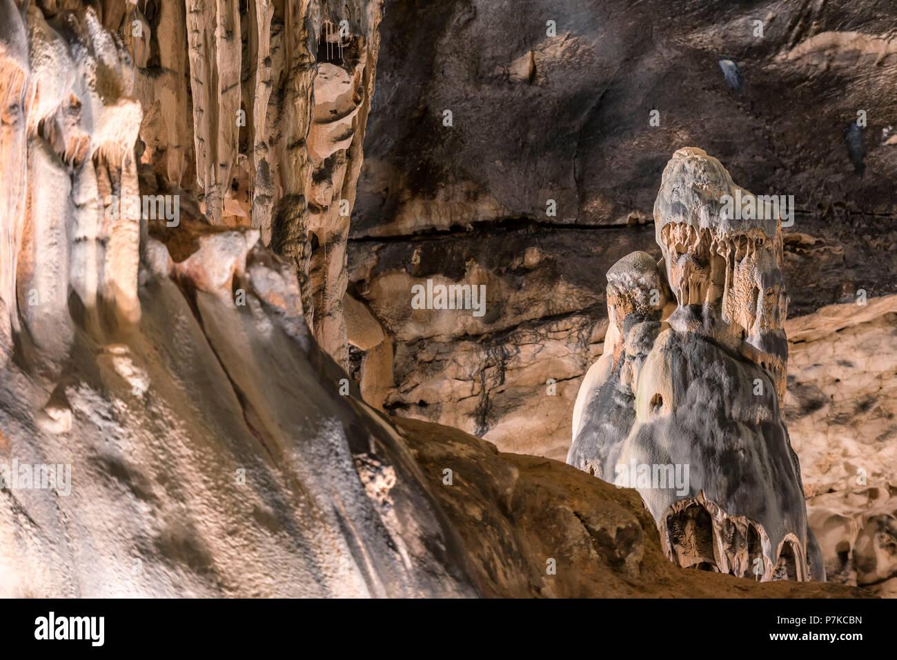 Saint-Marcel-d'Ardèche, Ardèche, France, La Grotte de Saint-Marcel-d'Ardèche on the Ardèche, Arrondissement Privas - Stock Image