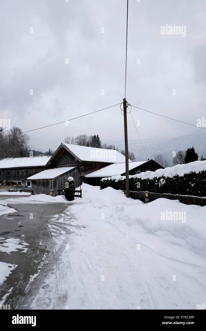 Bavaria, Lenggries, winter, snow - Stock Image