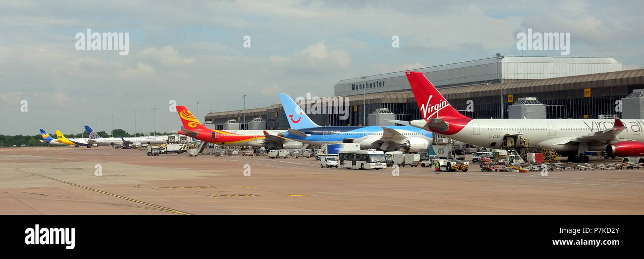 Manchester & Copenhagen Airports - Stock Image