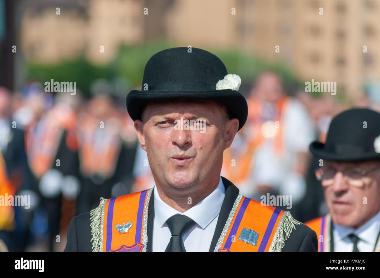 fa826fe971b A Man Wearing Bowler Hat Stock Photos   A Man Wearing Bowler Hat ...