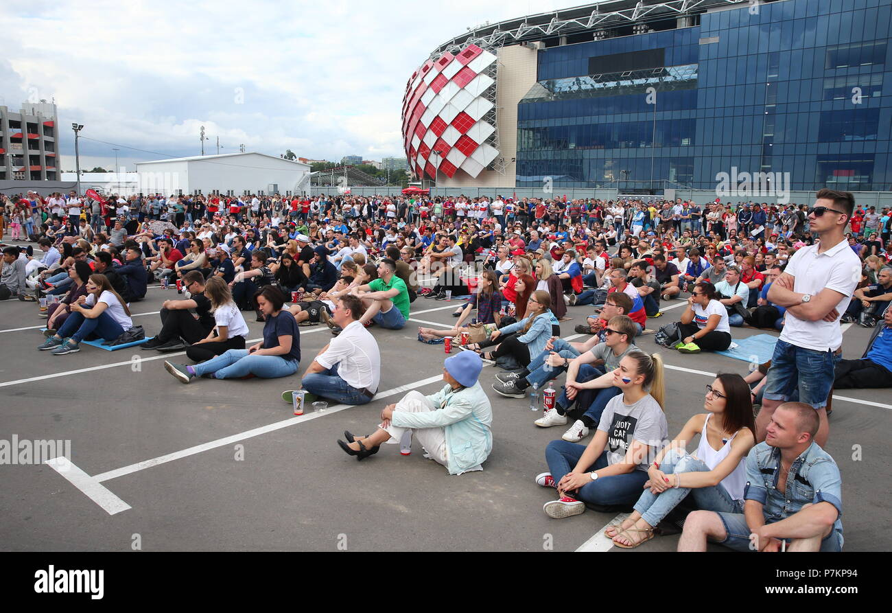 Fan zone near the stadium Spartak. I went to see, did not like 95