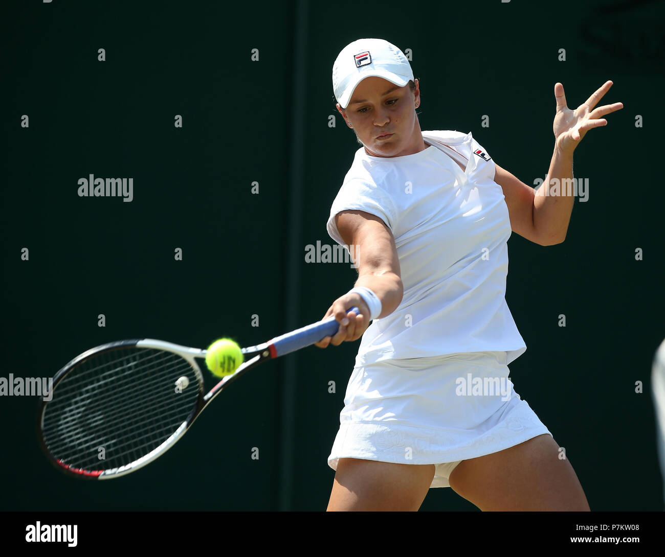 London, UK. 7th July 2018. Ashleigh Barty The Wimbledon Championships 2018 The Wimbledon Championships 2018 The All England Tennis Club Wimbledon, London, England 07 July 2018 Credit: Allstar Picture Library/Alamy Live News Stock Photo