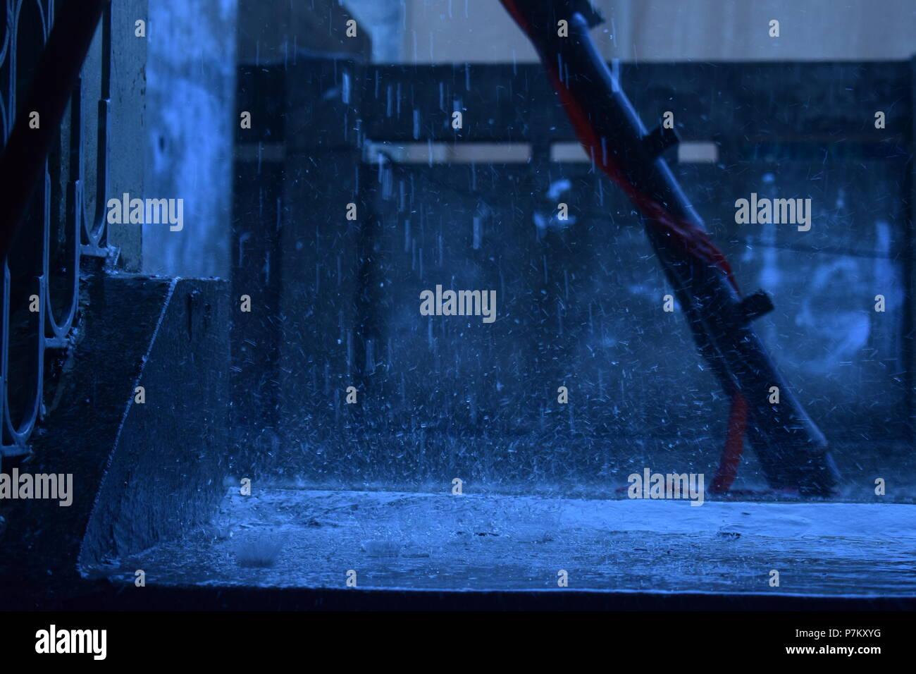 Heavy Rain Fall Stock Photo