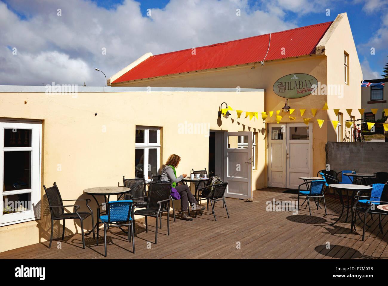 Coffee house, house, Iceland, Hvammstangi - Stock Image