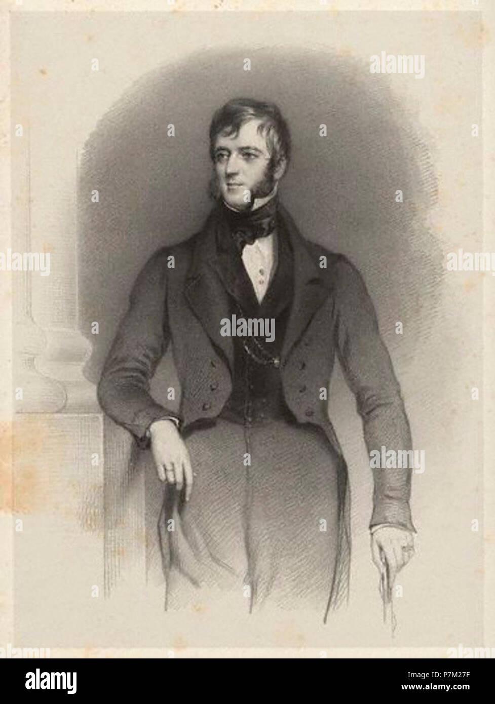 2nd Baron Carrington. by Richard James Lane,print,circa 1825-1850 - Stock Image
