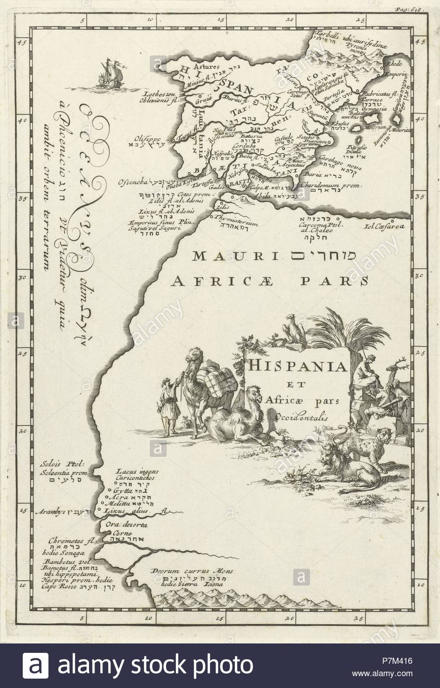 Map Of Spain And North Africa.Map Of Spain And Part Of North Africa Jan Luyken Cornelis