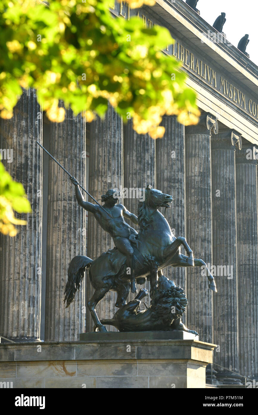 Germany, Berlin, Museum Island, listed as World Heritage by UNESCO, Altes Museum, home to a collection of ancient works, building erected in 1828 by Prussian architect Karl Friedrich Schinkel Stock Photo