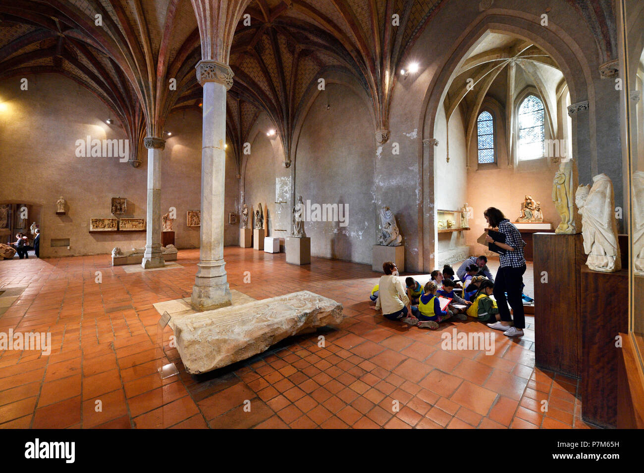 France, Haute Garonne, Toulouse, Augustins museum in the former Augustins convent - Stock Image